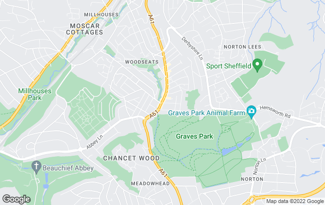 Map for Staves Estate Agents, Sheffield Lettings