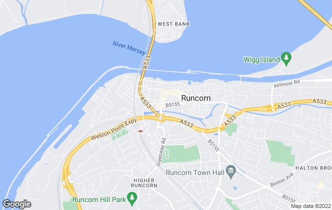 Map for Adams , Runcorn