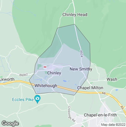 Map of property in Chinley