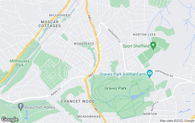 Map for Whitehornes, Woodseats