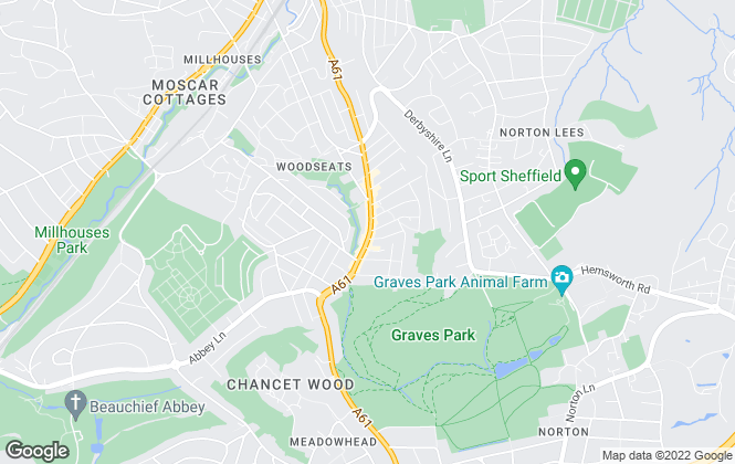 Map for Whitehornes, Sheffield