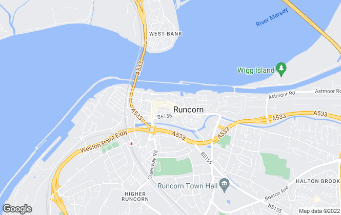Map for Hunters, Runcorn
