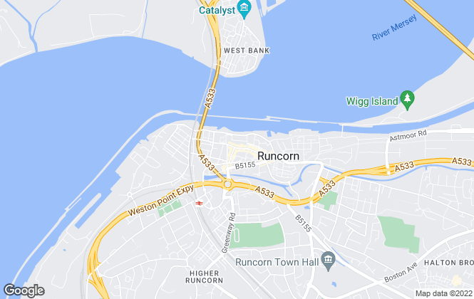 Map for Edwards Grounds, Runcorn
