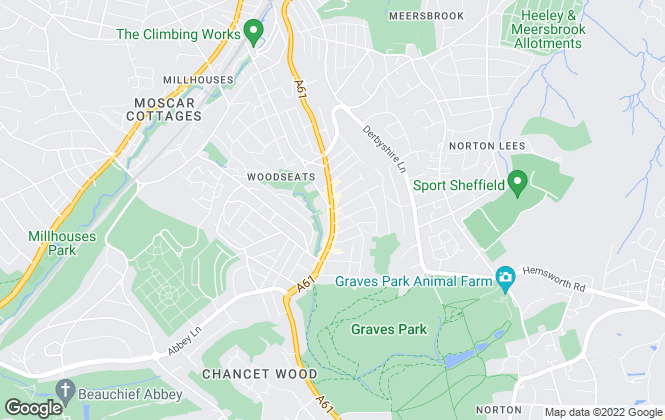 Map for Reeds Rains Lettings, Woodseats