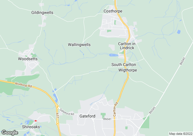 Map for Owday Lane, Carlton-in-Lindrick, Worksop, UK