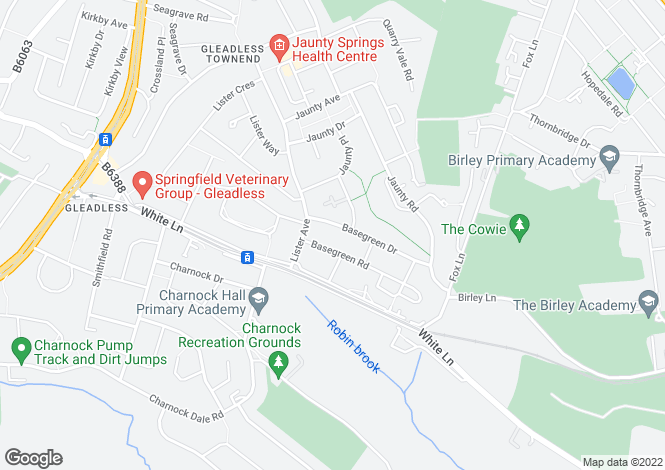 Map for Basegreen Drive, SHEFFIELD