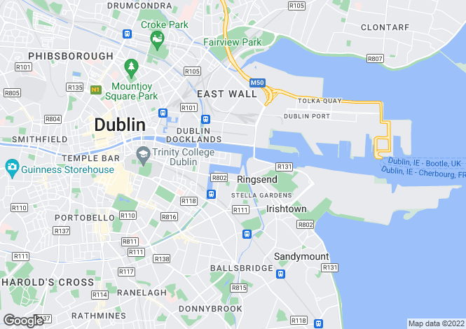 Map for Grand Canal Dock, Dublin