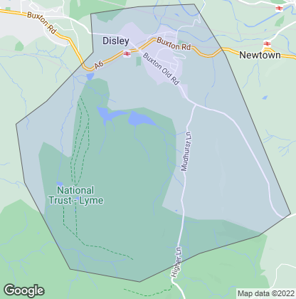 Map of property in Disley