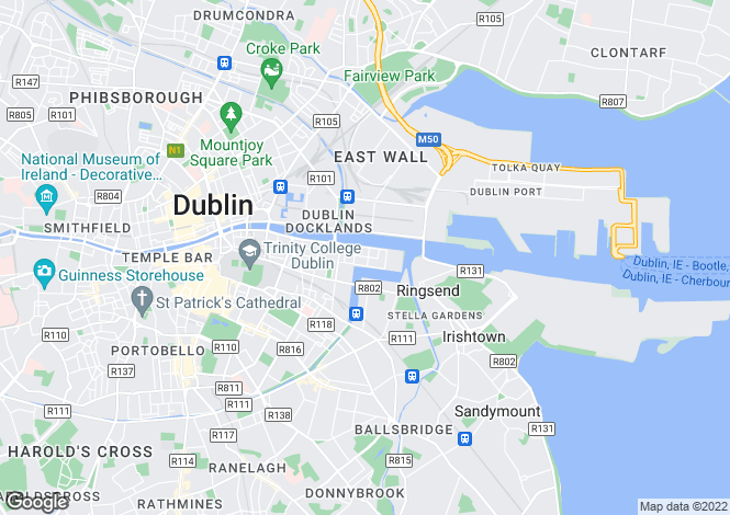 Map for 207 Longboat Quay North, Grand Canal Dock, Dublin 2