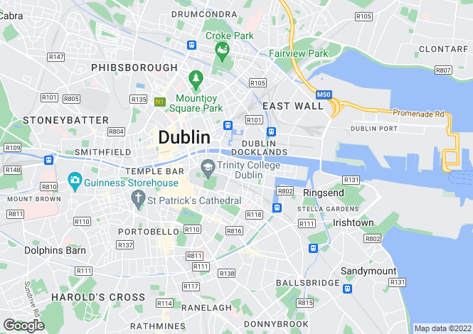 Map for 15 Trinity Square, Townsend Street, Dublin 2, D02 W673