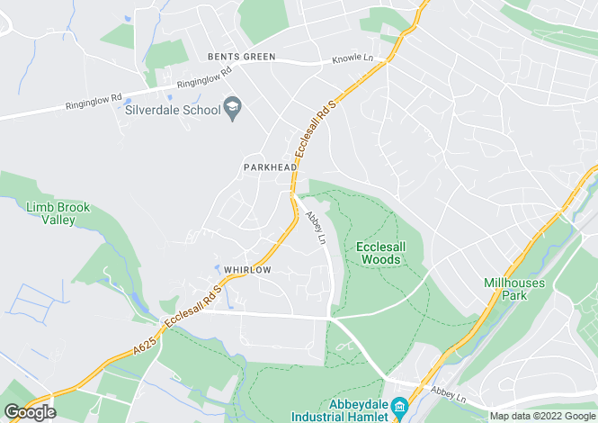 Map for Parkhead Hall, Whirlow, S11 9PX.