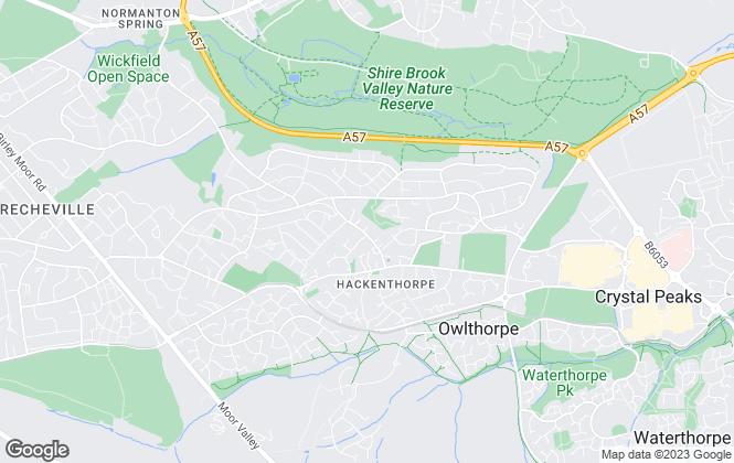 Map for JMC, Sheffield