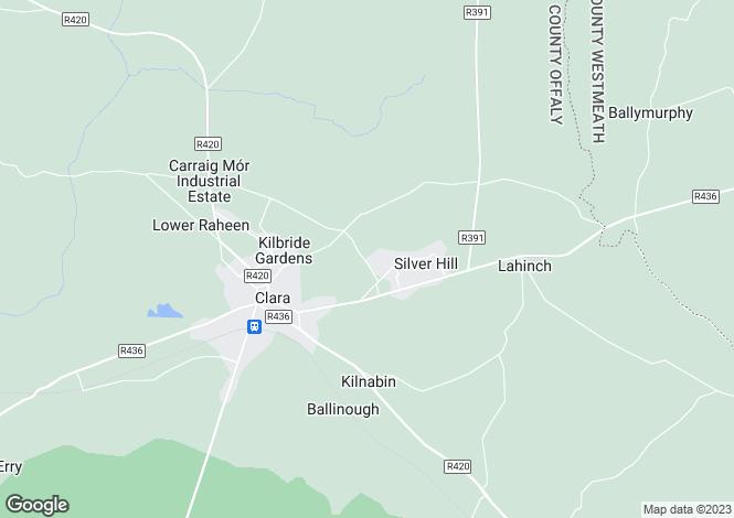 Map for 55 Beechmount Avenue, Clara, Co Offaly, R35E436