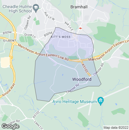 Map of property in Woodford Bramhall
