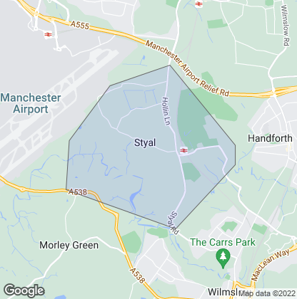 Map of property in Styal