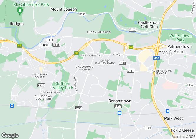 Map for 5 Colthurst Crescent, Lucan, Co. Dublin