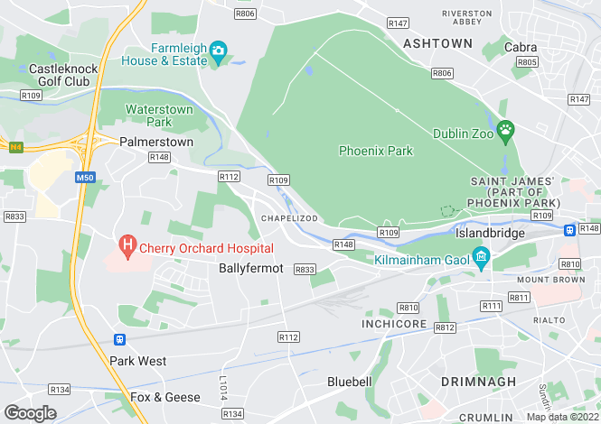 Map for 9 New Row, Chapelizod, Dublin 20, D20 W299