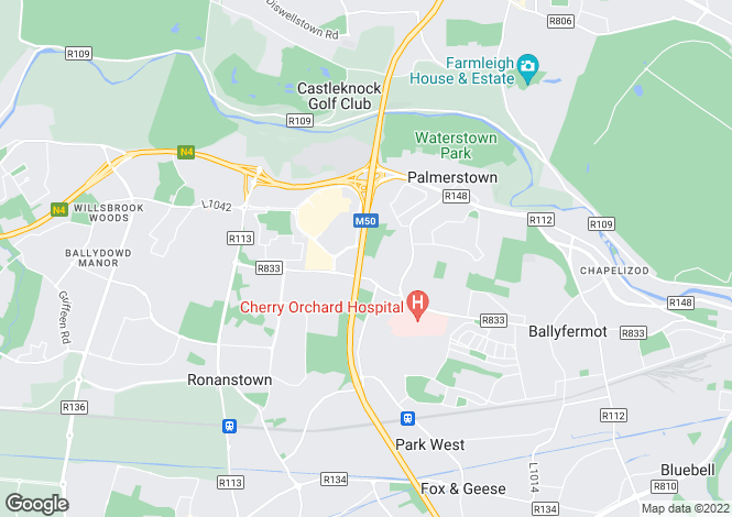 Map for 9 Palmers Close, Palmerstown Manor, Palmerstown, Dublin 20, D20 YC64