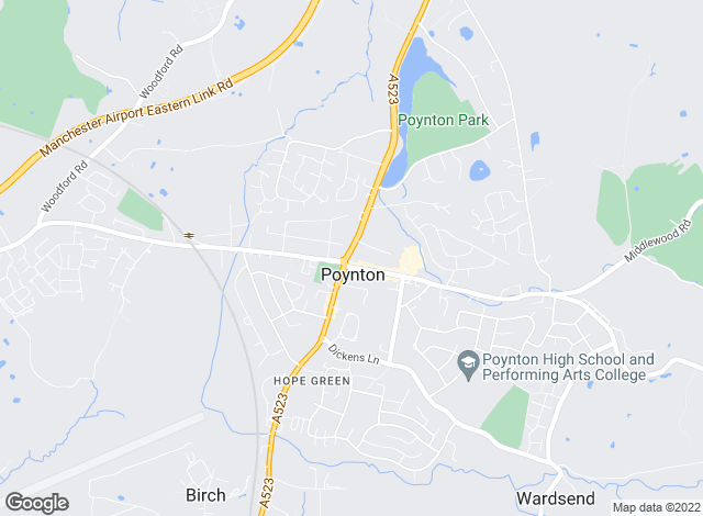 Map for Bridgfords, Poynton