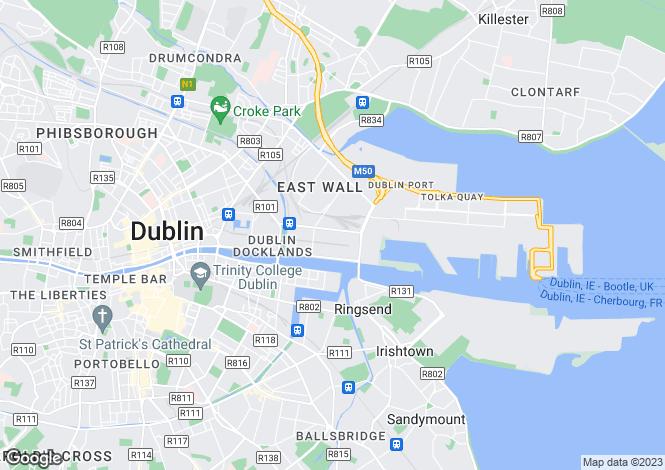 Map for 138 Block C, Castleforbes Square, Dublin 1, D01 NN26