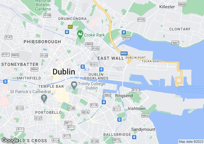 Map for 11 Blackwater House, Spencer Dock, Dublin 1