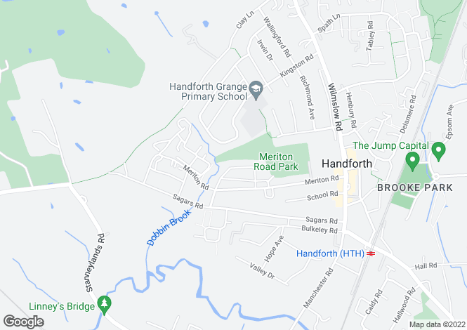 Map for Hampson Crescent, HANDFORTH, Cheshire