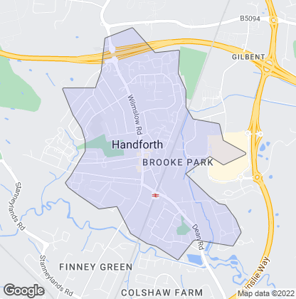 Map of property in Handforth