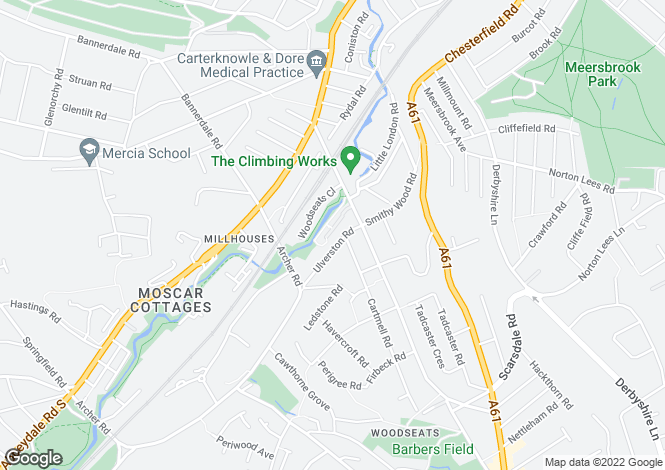 Map for 2 Woodseats Mews, Off Woodseats Road Sheffield S8