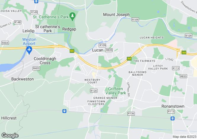Map for Lucan, Dublin