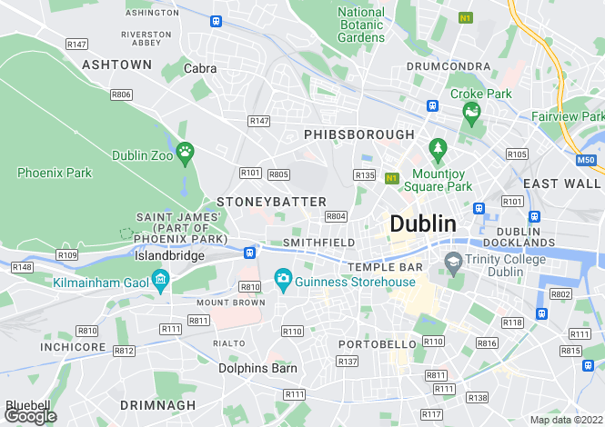 Map for 6 Norseman Court, Stoneybatter, Dublin 7