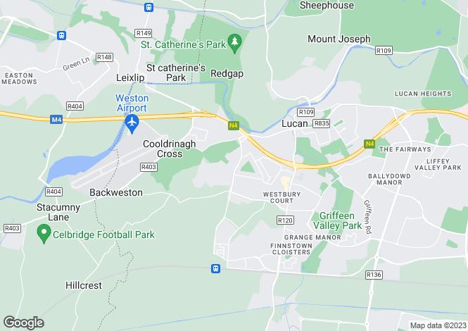 Map for Tandy's Lane, Dodsborough Road, Lucan, Dublin