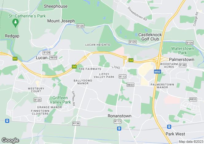 Map for 4 Liffey Road, Lucan, Dublin