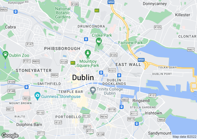 Map for 1 Block E1, The Steelworks, Foley Street, Dublin 1