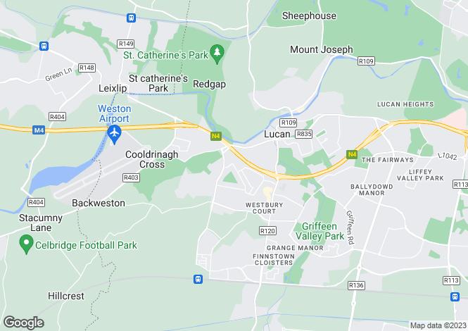 Map for Unit 1B, Tesco Shopping Centre, Hillcrest, Lucan, Dublin