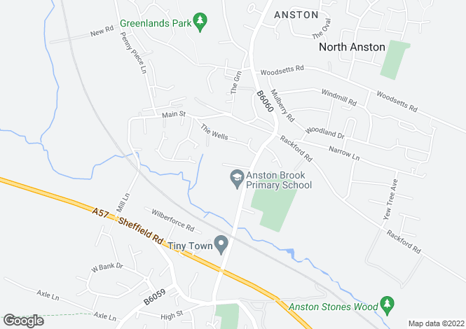 Map for Sikes Road, North Anston, Sheffield