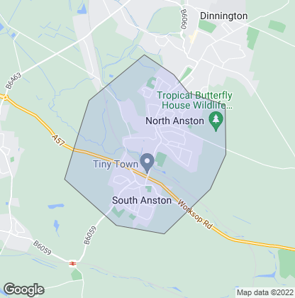 Map of property in Anston