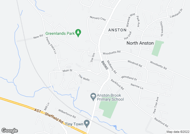 Map for Stoney Bank House Memory Lane, Anston, Sheffield S25
