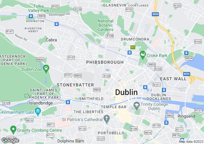 Map for 19 Phibsboro Avenue, Phibsboro, Dublin 7