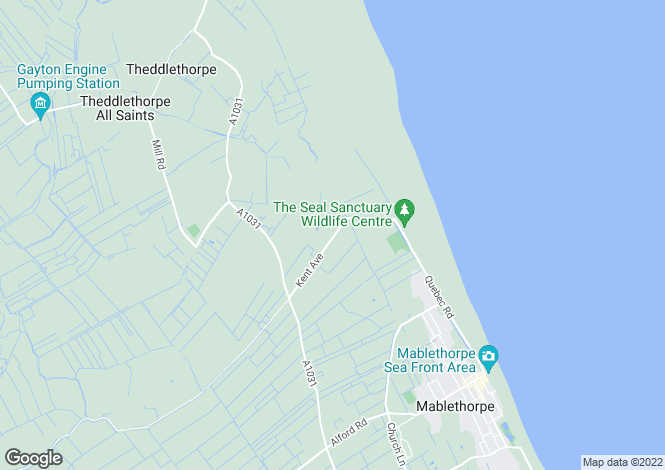 Map for Kent Avenue, Theddlethorpe, Mablethorpe, Lincolnshire