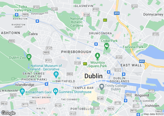 Map for 17 Berkeley Street, Phibsboro,   Dublin 7