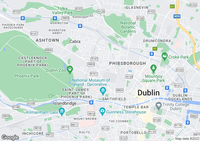 Map for 20 Rathdown Square, North Circular Road,   Dublin 7