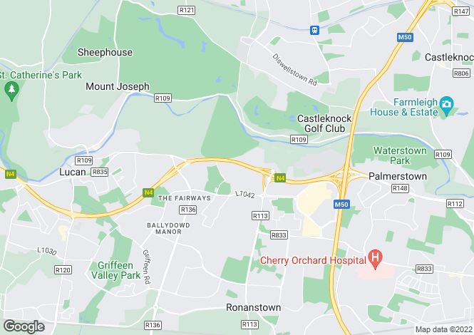 Map for 34 Mount Andrew Rise, Lucan, Co Dublin