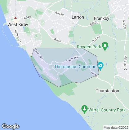 Map of property in Caldy