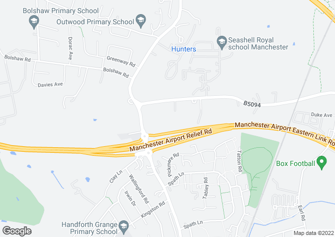 Map for Overslea, Stanley Road 179 Stanley Road, Handforth, WILMSLOW