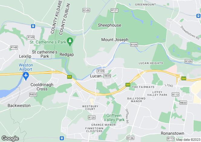 Map for Carey's Newsagents, Main Street, Lucan, Dublin