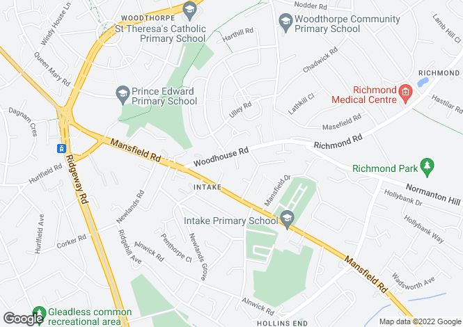 Map for 12 Valley Court, Woodhouse Road, Sheffield, S12 2AZ