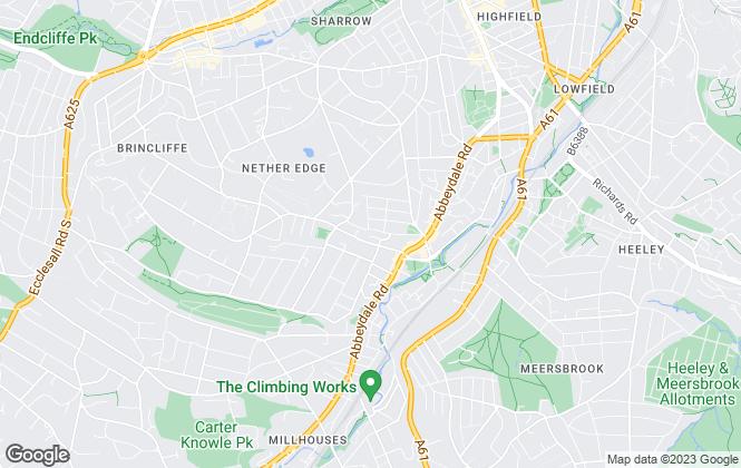 Map for Blenheim Park Estates, Sheffield