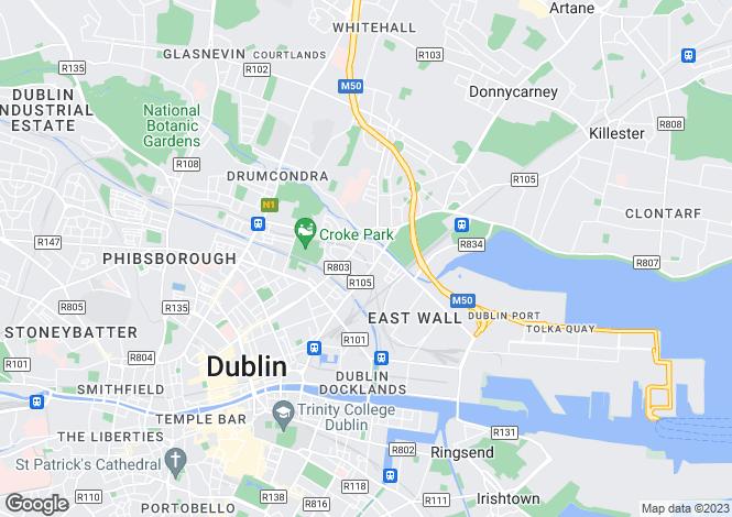 Map for 10 St Patricks Avenue, North Strand, Dublin 3, D03 HW99