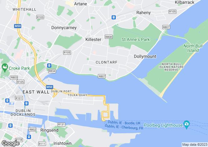 Map for Vernon Wood, Clontarf, Dublin 3