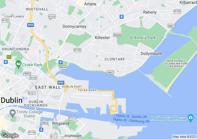 Map for 124 Clontarf Road, Clontarf, Dublin 3, D03 HH64